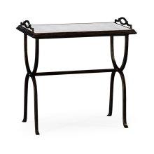 glomise & Bronze Iron Tray Table