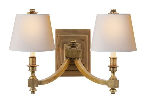Visual Comfort MS2021HAB-NP Michael S Smith Eiffel 2 Light 19 inch Hand-Rubbed Antique Brass Decorative Wall Light