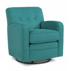 Lavender Fabric Swivel Glider