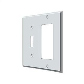 Switch Plate, Single Switch/Single Rocker - Polished Chrome