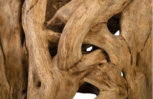Fig Wood Trunk Dining Base, Natural