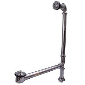 Pivoting Leg Tub Drain - Brushed Nickel