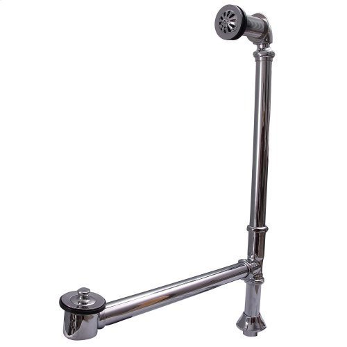 Pivoting Leg Tub Drain - Brushed Nickel