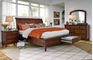 Queen Bed with Storage Footboard