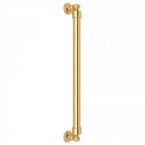 "English Gold 21 3/4"" Perrin & Rowe Decorative Grab Bar"