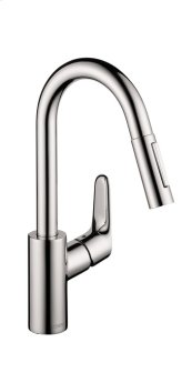 Chrome Focus 2-Spray Prep Kitchen Faucet, Pull-Down, 1.75 GPM