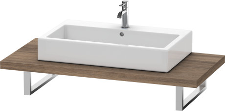 Console For Above-counter Basin And Vanity Basin, Natural Walnut (decor)