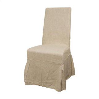 Slipcover Emily Fabric Chair, Flax