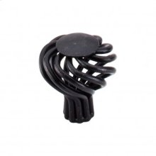 Round Small Twist Knob 1 1/4 Inch - Patina Black