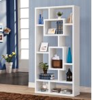 - Ten shelf bookcase finished in white - Constructed with MDF, particle board, and engineered veneer- Also available in cappuccino (#800259) and weathered grey (#800512) Product Image