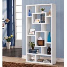 Geometric Cube White Bookcase