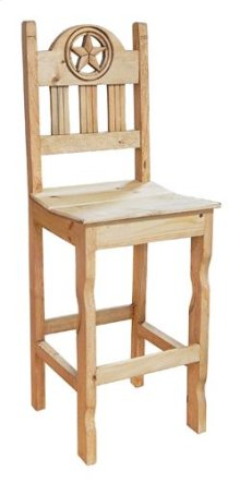 Barstool Open Star Wood Seat