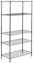 Ceasar 5 Tier Chrome Wire Adjustable Rack - Dark Grey Product Image