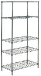 Ceasar 5 Tier Chrome Wire Adjustable Rack - Dark Grey Product Image