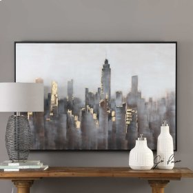 Skyline Hand Painted Canvas