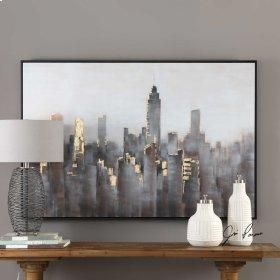 Skyline Hand Painted Canvas