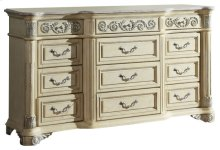 Sienna Antique White Dresser - 72''L x 20''D x 42''H