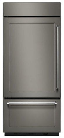 "20.9 Cu. Ft. 36"" Width Built-In Panel Ready Platinum Interior Bottom Mount Refrigerator"