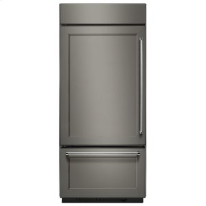 "KITCHENAID20.9 Cu. Ft. 36"" Width Built-In Panel Ready Platinum Interior Bottom Mount Refrigerator"