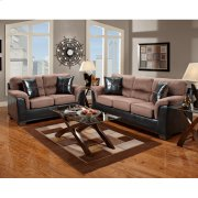 Exceptional Designs by Flash Living Room Set in Laredo Chocolate Microfiber Product Image