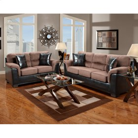 Exceptional Designs by Flash Living Room Set in Laredo Chocolate Microfiber