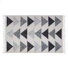 Rug 230x160 cm SARAB white-black+fringes