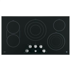 "GE Cafe36"" Built-In Knob Control Electric Cooktop"