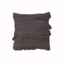 20X20 Hand Woven Bryn Pillow Charcoal