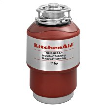3/4-Horsepower Continuous Feed Food Waste Disposer - Red
