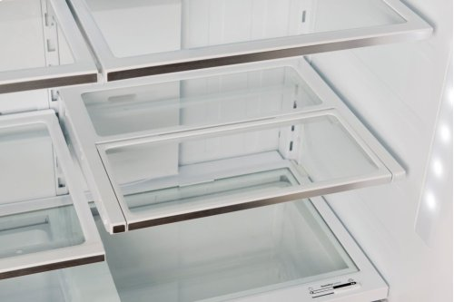 """GREAT DEAL - BIG SAVINGS FOR SLIGHTLY USED - SMALL DENT IN FREEZER DOOR -BOSCH 800 Series 36"""" Freestanding Counter-Depth French Door Refrigerator, B21CT80SNS, Stainless Steel - MODEL B21CT80SNS / 6 MONTH WARRANTY"""