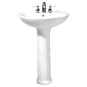 Cadet 24-inch Pedestal Sink - White