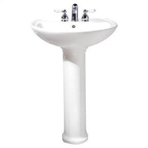 Cadet 24-inch Pedestal Sink - Bone