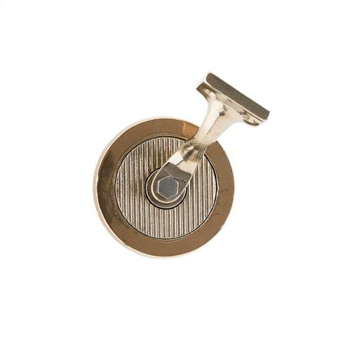Round Flute Handrail Bracket White Bronze Medium