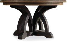 Corsica Dark Round Dining Table (Dark Base/Light Top)