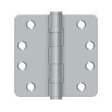 "4"" x 4"" x 1/4"" Radius Hinge, HD, Ball Bearings - Brushed Chrome"
