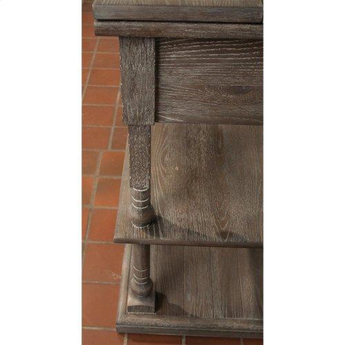 Juniper - Flip Top Sideboard - Charcoal Finish