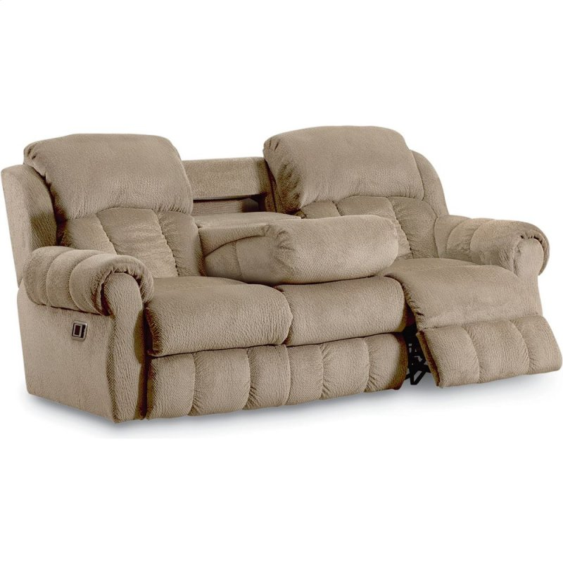 Dual Reclining Sofa With Fold Down Table Refil Sofa