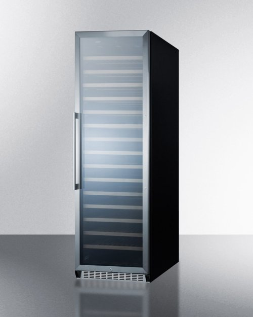 171 Bottle Single-zone Wine Cellar With Glass Door, Digital Thermostat, and Black Cabinet
