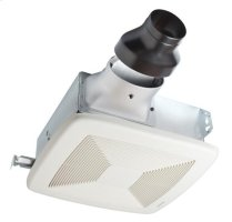 80 CFM Quiet LoProfile Ventilation Fan Finish Pack with White Grille