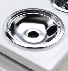 "8"" Chrome Drip Bowl - Plug-in Element"
