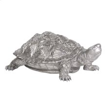 Turtle Figurine Textured Pewter