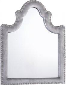 "Sophie Grey Velvet Mirror - 43.5""W x 36""H"