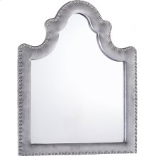 "Sophie Grey Velvet Mirror - 43.5"" W x 1"" D x 36"" H"
