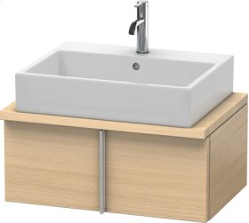 Vero Vanity Unit For Console Compact, Mediterranean Oak (real Wood Veneer)