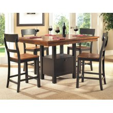 Storage Pub Table and 4 Chairs