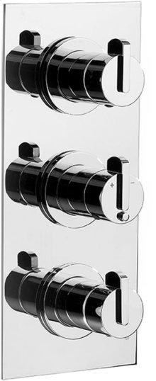 Chrome Plate Trim set for V135-AIS thermostatic valve - 2 separate volume controls