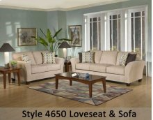 Viewpoint Tan/Viewpoint Coffee/Flair Spa 4650S - Sofa