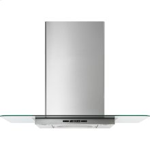 """Glass Collection Wall-Mount Canopy Hood, 36"""", Euro-Style Stainless Handle"""
