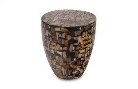 Petrified Mosaic Drum Side Table Light