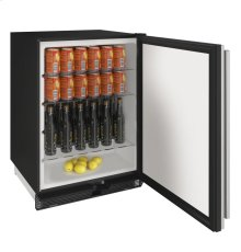 "1000 Series 24"" Solid Door Refrigerator With Stainless Solid Finish and Field Reversible Door Swing"